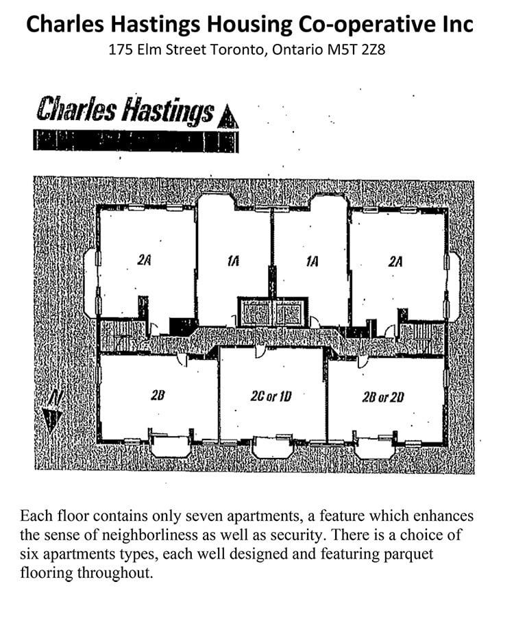 Floor Plans Rates Charles Hastings Housing Co Operative